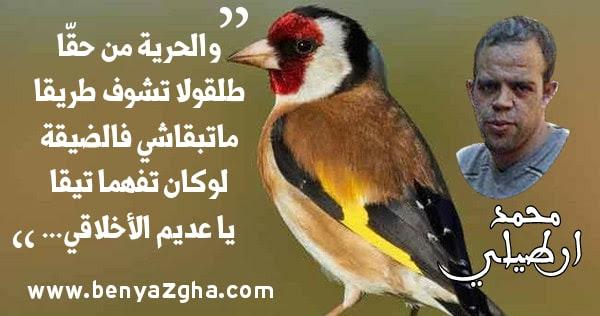 قصيدة مزيوقة لمحمد ارطيلي