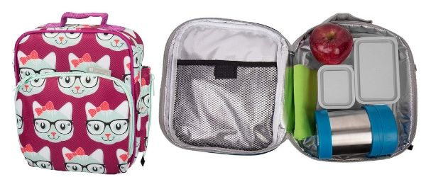 Bontology soft sided lunchbox with cats