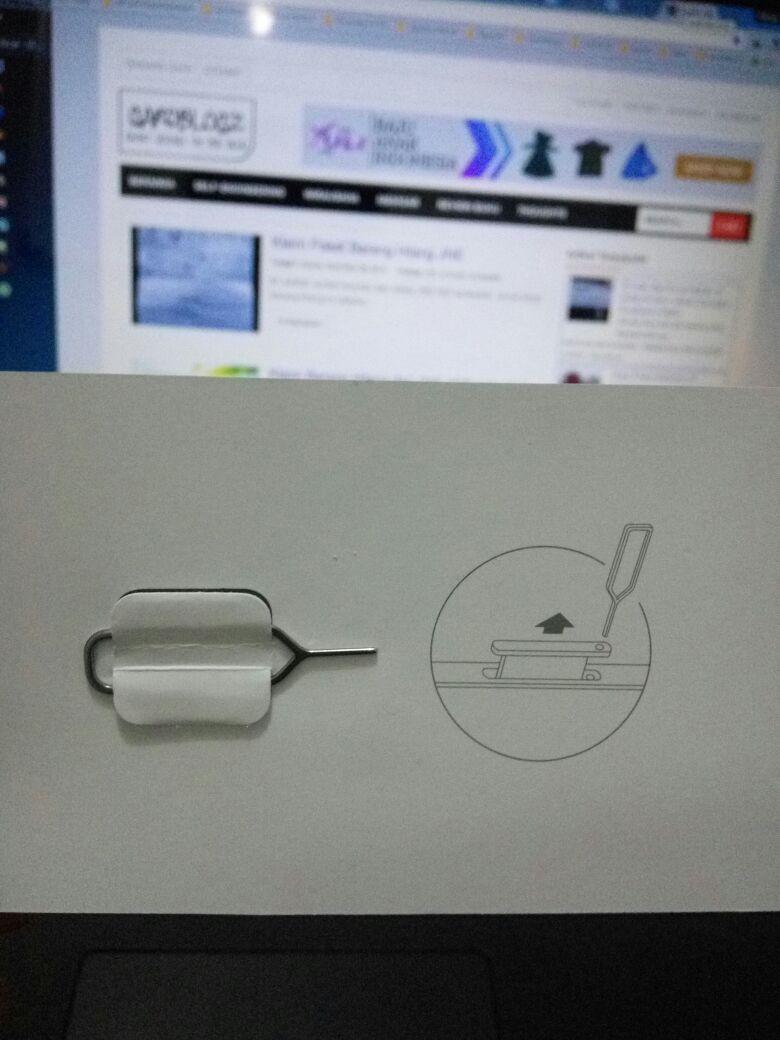 pin jarum untuk menusuk lubang sim card Xiaomi mi4s