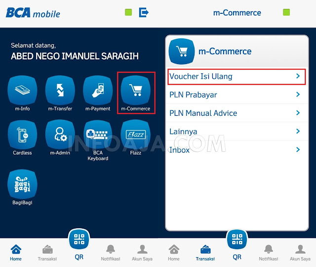 Cara Beli Paket Internet Di BCA Mobile