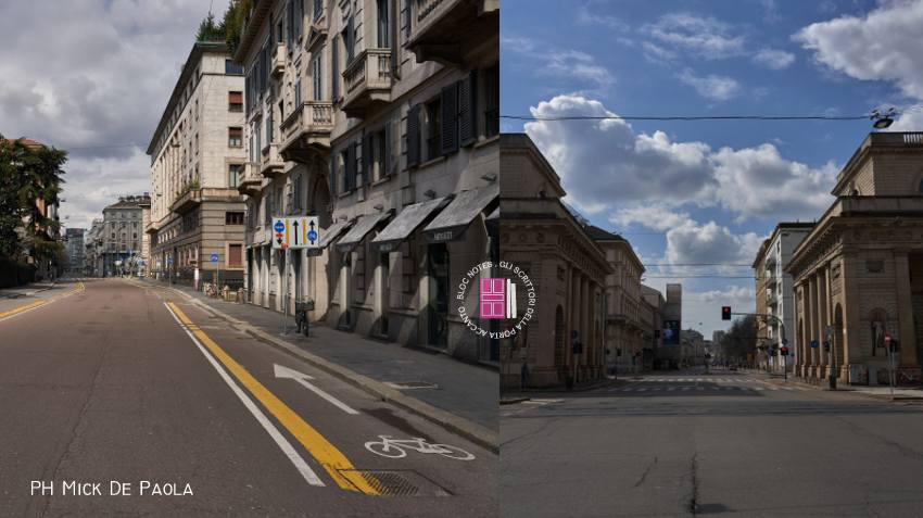 Milano deserta per il coronavirus: immagini di Mick De Paola – @themick79i
