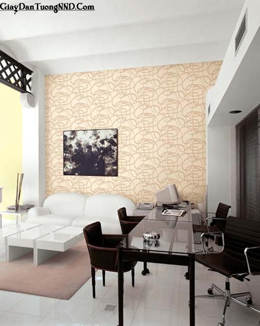 Trang trí giấy dán tường cho phòng khách nhỏ