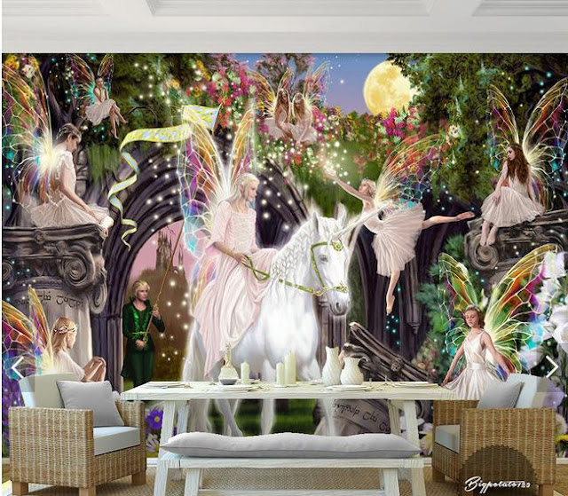 Fairy Wall Mural Horse Wallpaper Girls Room Childrens wallpaper