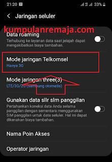 Menggunakan jaringan internet 3G/4G