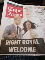 Cape Argus anticipate arrival of Duke and Duchess of Sussex