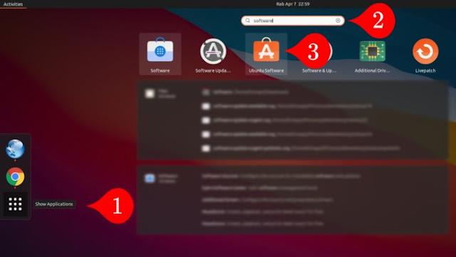 Searching Software Ubuntu