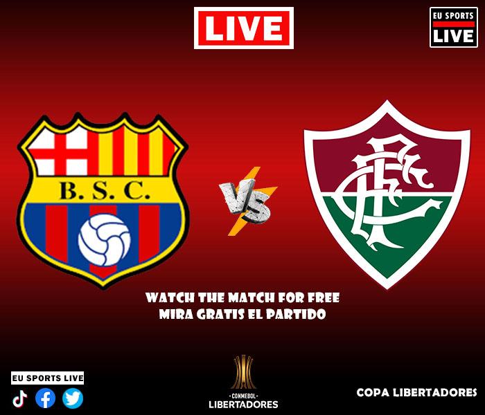 Ver Gratis partido En Vivo entre Barcelona y Fluminense de la Copa Libertadores.