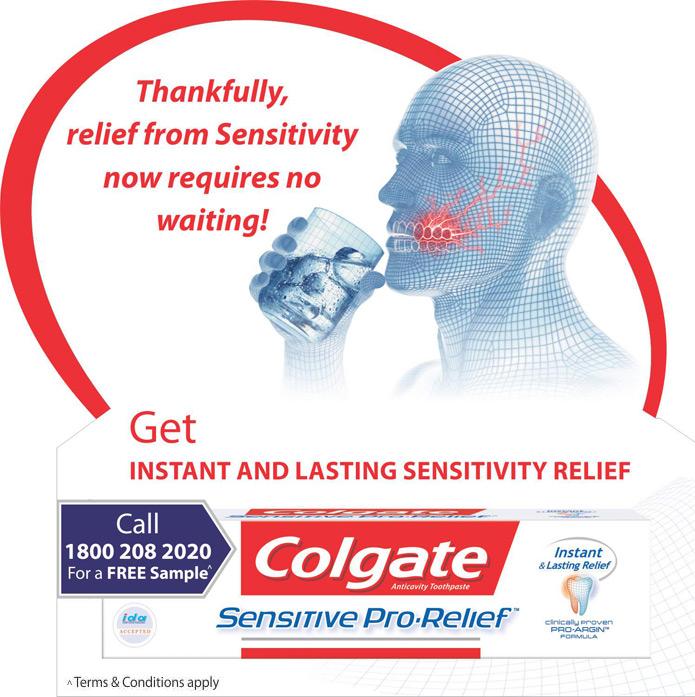 Get Free Sample Colgate Sensitive Pro Relief !! Colgate