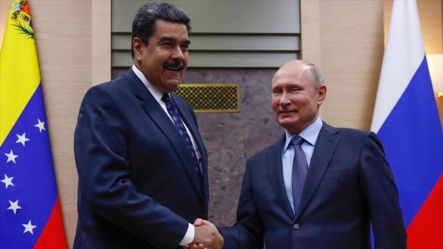 Maduro y Putin condenan medidas coercitivas de EEUU contra Caracas