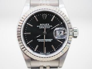 ロレックスの女性用腕時計をお買い取り致しました 79174黒文字板モデルです