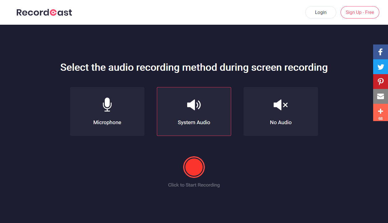 How to use RecordCast recorder?