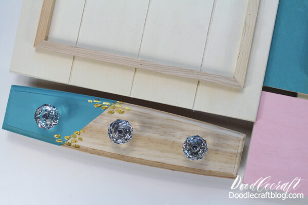 Next, follow it up with some Treasure Gold paint in the same way as with the chalkboard.