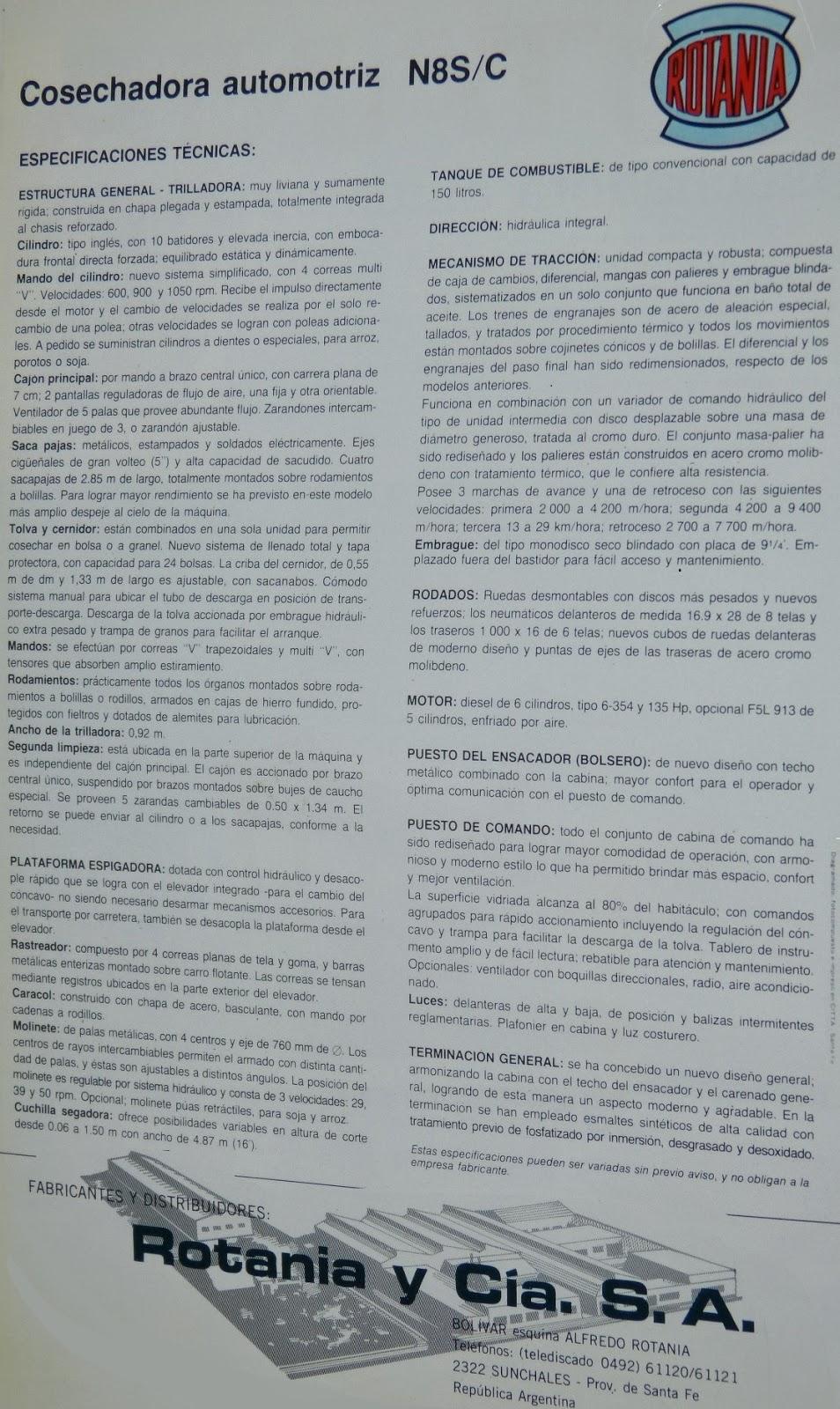Pesados Argentinos: Rotania N8S/C
