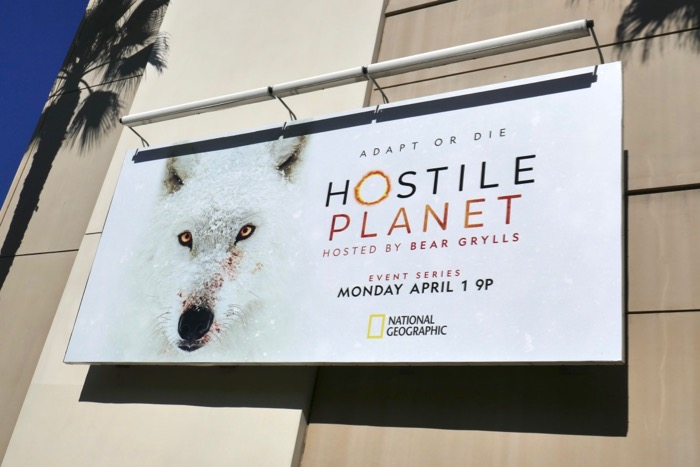 Hostile Planet series premiere billboard