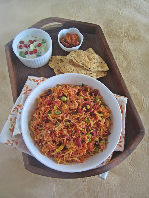 Beetroot-Peas Biryani   Easy Rice Recipes