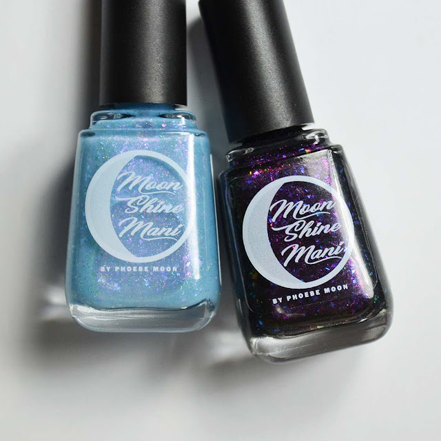 blue and black jelly nail polish in bottles