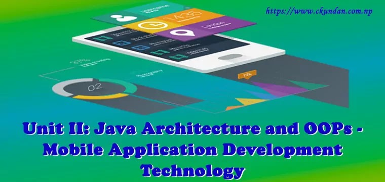 Java Architecture and OOPs - Mobile Application Development Technology