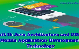 Unit II: Java Architecture and OOPs - Mobile Application Development Technology