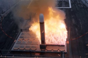 22 Reasons Why Starting World War 3 In The Middle East Is A Really Bad Idea - A Tactical Tomahawk Cruise Missile launches from the forward missile deck aboard the guided-missile destroyer USS Farragut (DDG 99)
