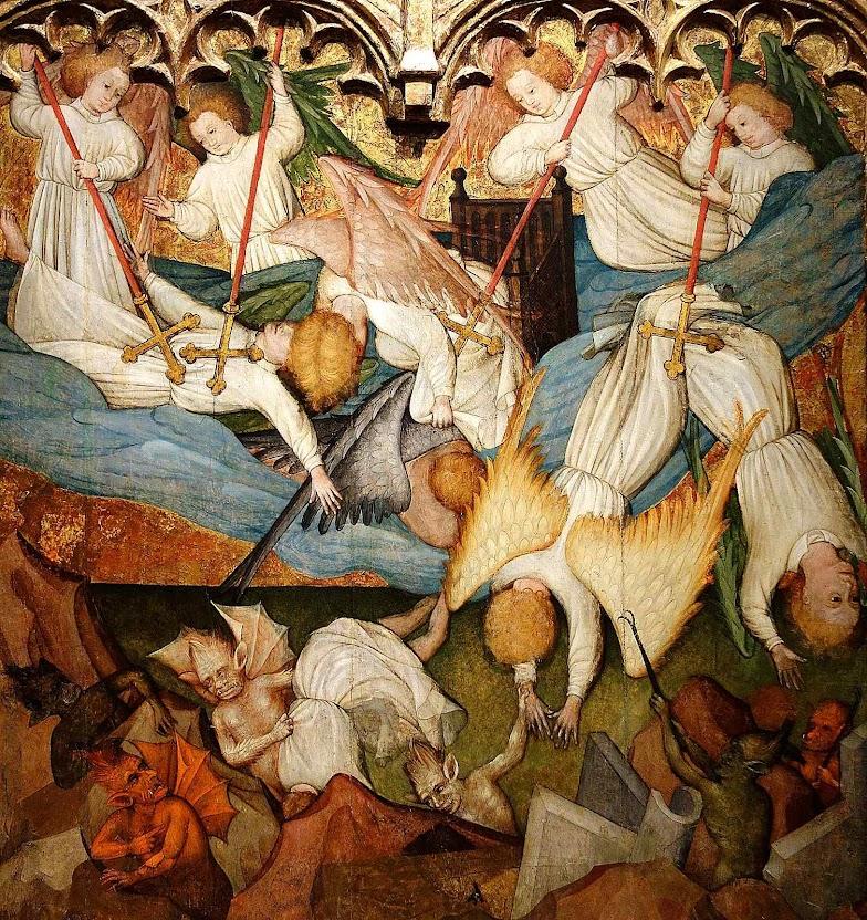 Queda dos anjos rebeldes. Nicolás Francés (1390 - 1468). Cincinnati Art Museum