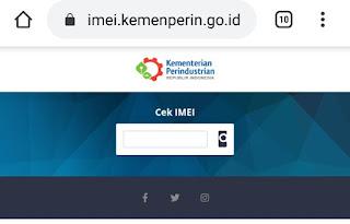 Cek IMEI BM atau resmi