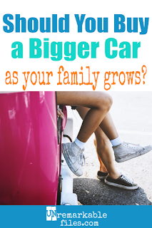 When having another baby means you won't all fit in your family car, what do you do? You might think the automatic answer is to buy a bigger family vehicle, but think again. Could you be happy as a 2-car family? #family #car #pregnant