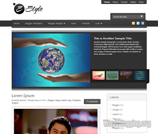 E Style Free Blogger Template
