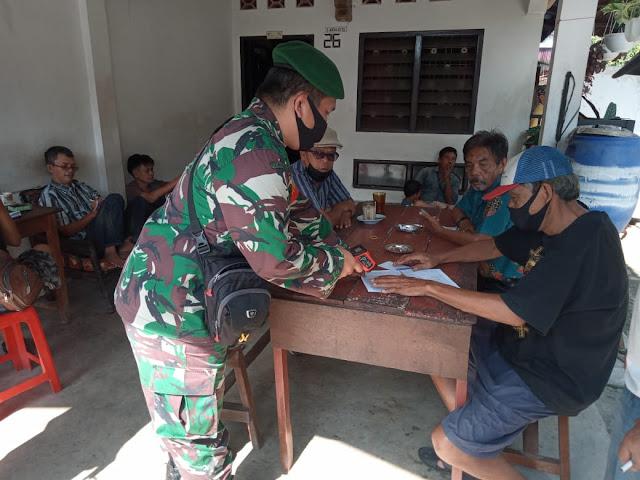 Pelaksanaan PPKM Skala Micro Dilakukan Personel Jajaran kodim 0207/Simalungun Diwilayah Binaan