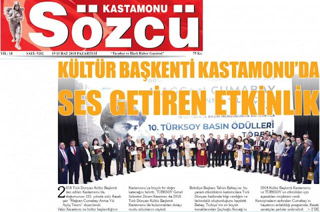 Kültür Başkenti Kastamonu'dan ses getiren etkinlik. - Basında Harun İstenci