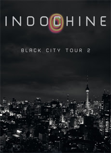 "Affiche du ""Black City Tour 2"" d'Indochine"