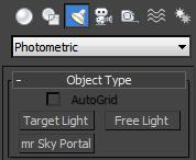 3Ds max Photometric ies lights