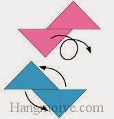 Bước 5: Xoay hai tờ giấy sao cho chúng vuông góc với nhau