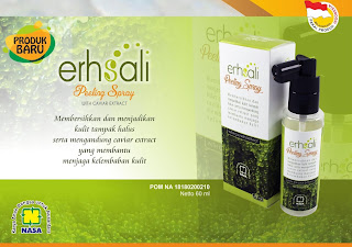 erhsali peeling spray produk nasa