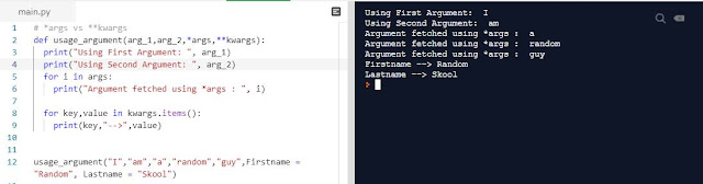 Python Programming Scenario - args vs kwargs