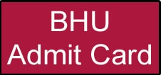 BHU PAT Admit Card