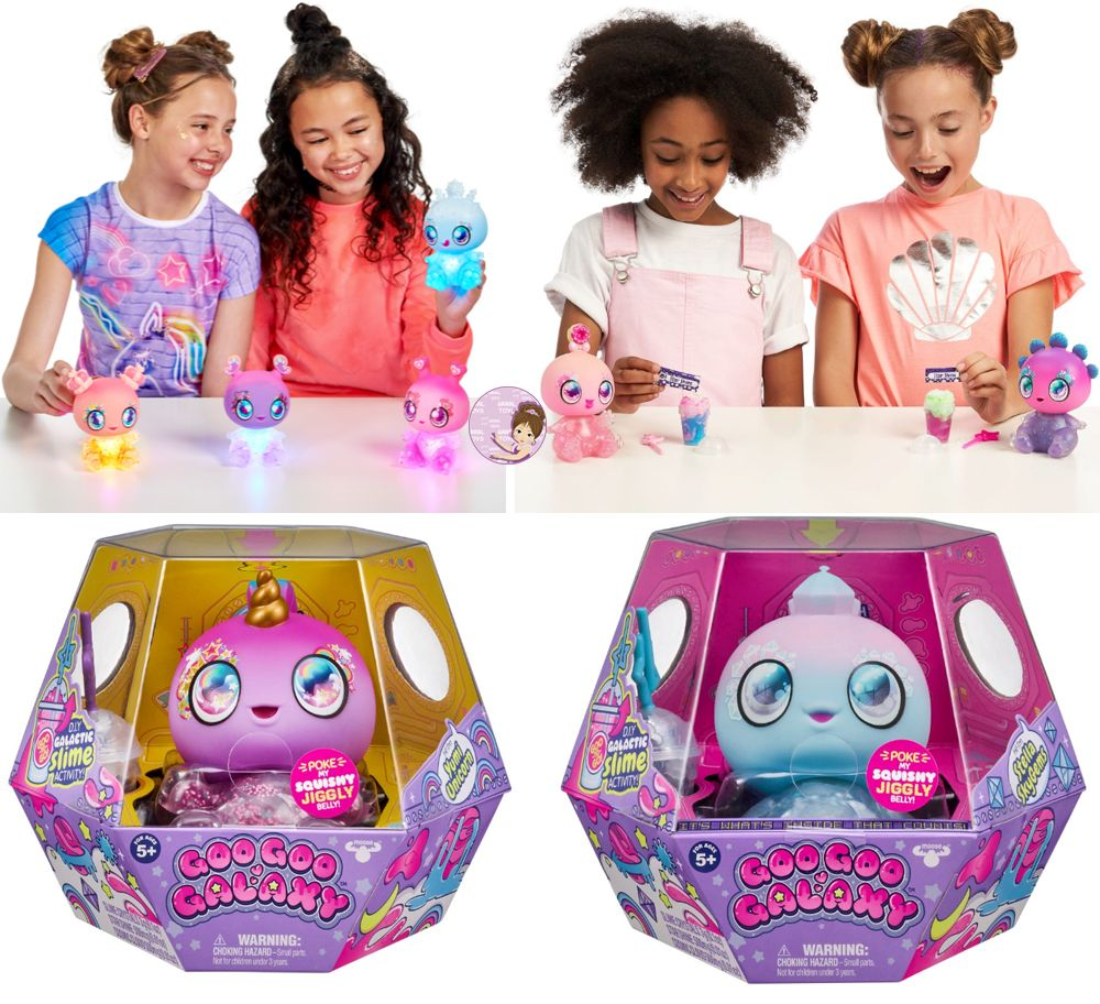 Aliens and unicorns with DIY slime maker kit Goo Goo Galaxy 5-inch doll