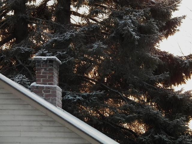 savupiippu, kuusi, kevät, katto