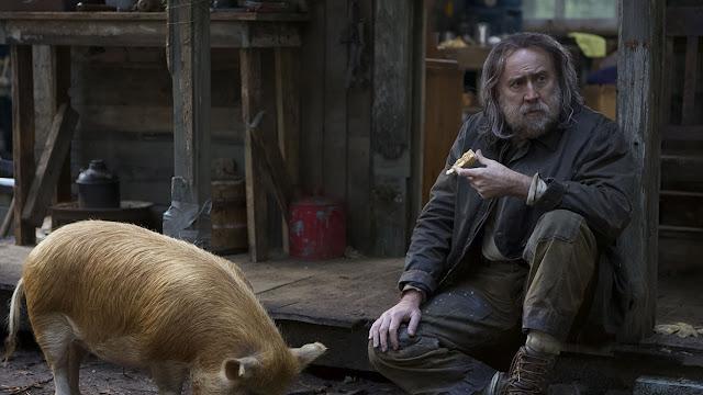 nicolas cage and a pig