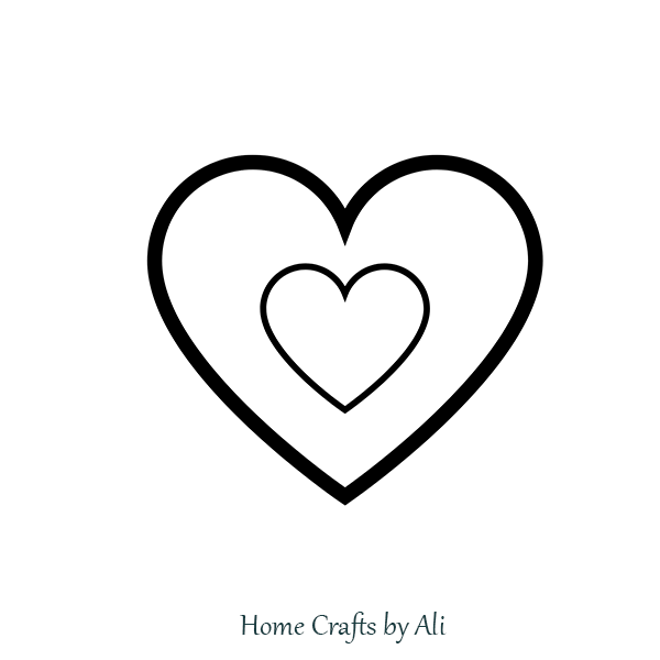Printable Two Heart Template for String Art Project