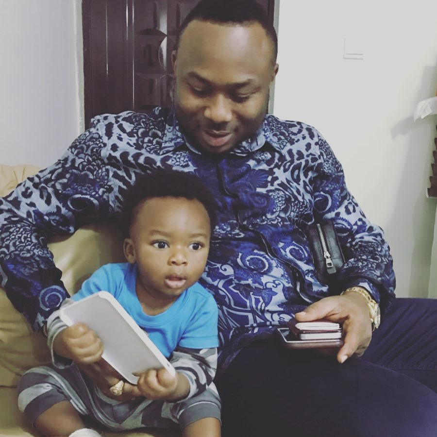 Olakunle Churchill writes son as he turns a year older