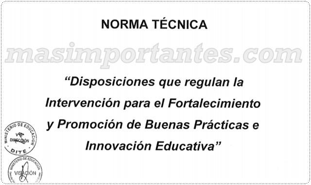 Norma Técnica de Buenas Prácticas e Innovación Educativa
