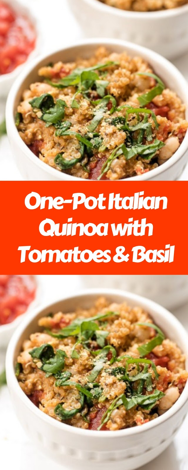 One-Pot Italian Quinoa with Tomatoes and Basil