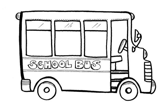Gambar Mewarnai Bus Sekolah - 4