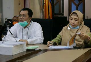 Gubernur dan Wakil Gubernur NTB saat ratas di ruang rapat utama Kantor Gubernur NTB