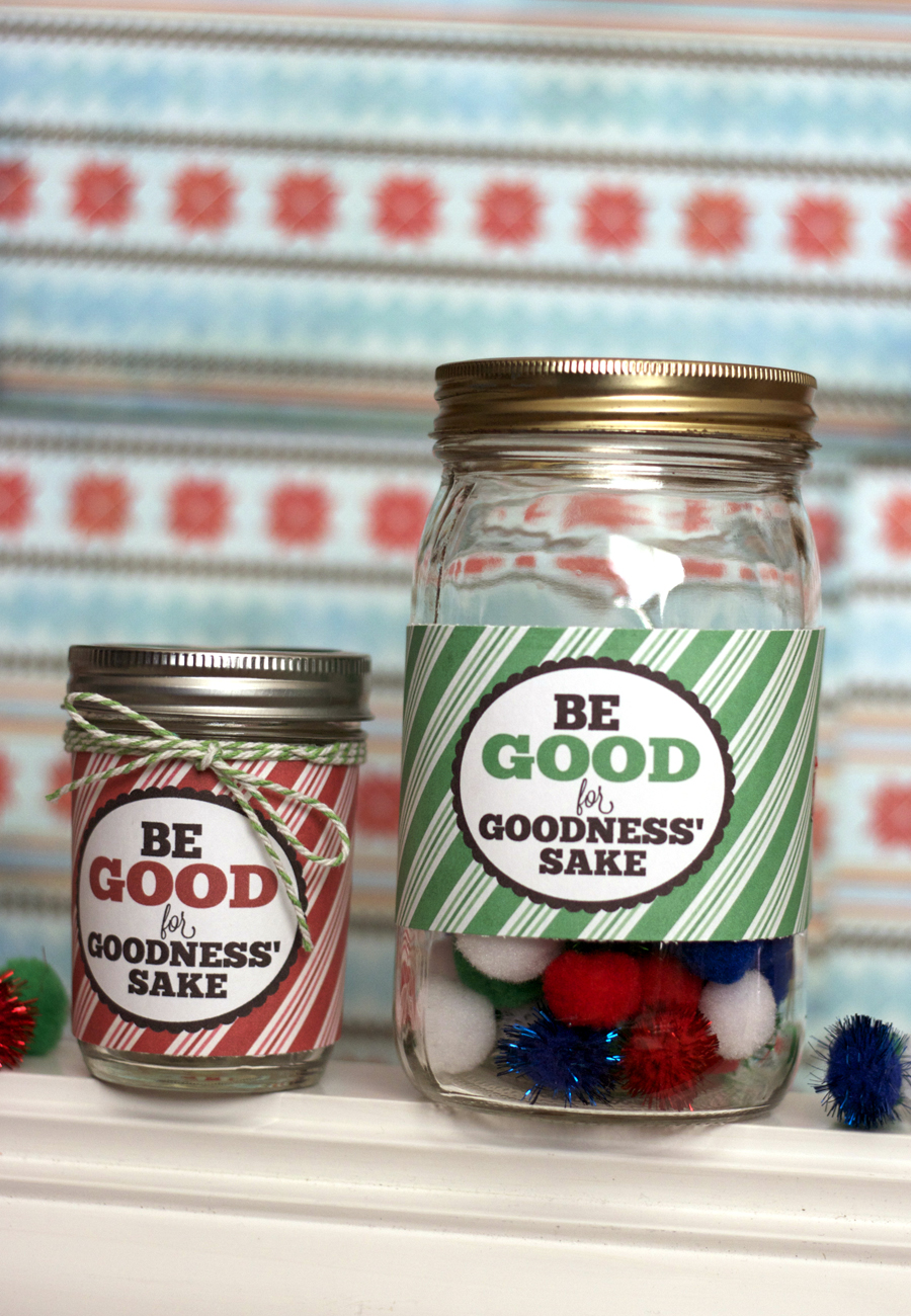 Be Good Christmas Reward Jar Printable My Sister S Suitcase Packed With Creativity