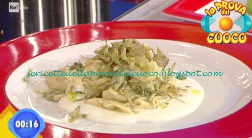 Sorpresine di crema su toma e carciofini ricetta Parizzi da Prova del Cuoco