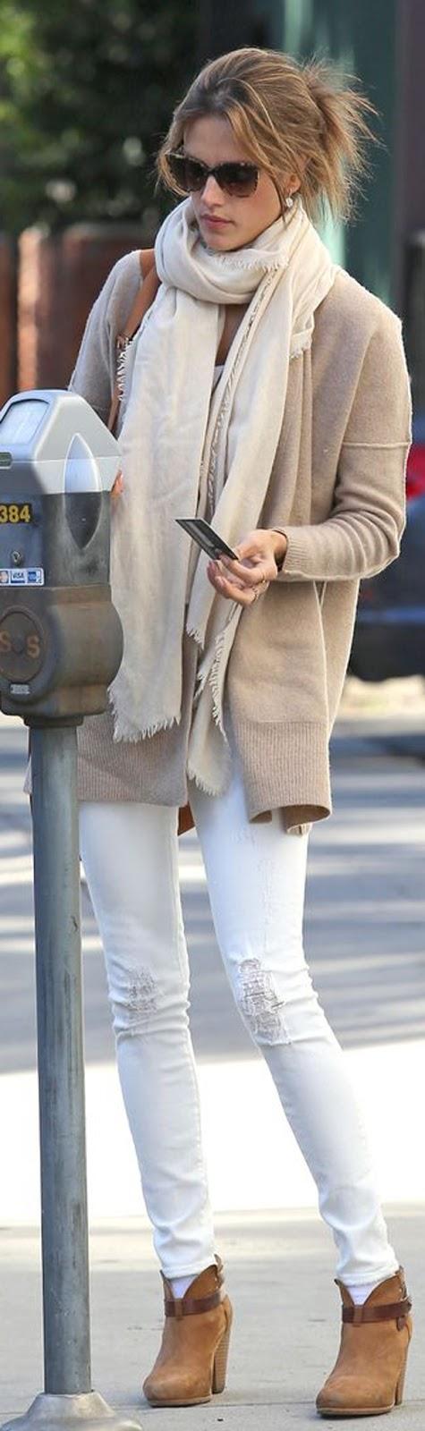 coat + skinny jeans