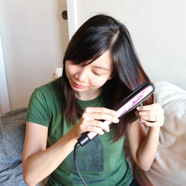 Panasonic Nanoe Hair Straightener Flat Iron Review Maj Valencia Makeup in Manila