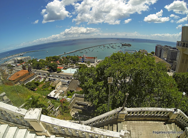 A Baía de Todos os Santos vista do Palácio Rio Branco, Salvador, Bahia