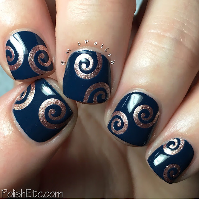 Metallic swirls for the #31DC2016Weekly - McPolish